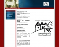 Bild Webseite IPS Immobilienportal Sandhaus Osnabrück