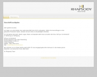 Bild Webseite Rhapsody HIGH END Hamburg