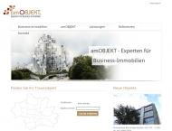 Bild Webseite AmObjekt Immobilien München