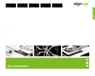 Bild Webseite Andre Bredenkamp Webdesign Sign.. Up Duisburg