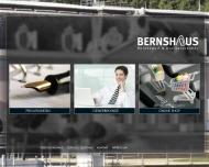 Bild Webseite BERNSHAUS Düsseldorf