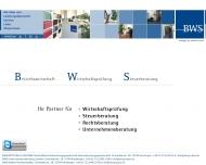 Bild Webseite BWS Unternehmensberatung Reutlingen