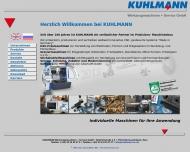 Bild Webseite Kuhlmann Werkzeugmaschinen + Service Bad Lauterberg im Harz