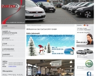 Bild Webseite CarCom24 Köln