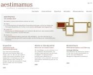 Bild Webseite aestimamus Düsseldorf