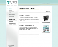 Bild Webseite VFG Verbund Farbe und Gestaltung Gesellschaft Köln