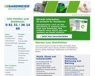Bild Webseite Sandmeier Mineralöle Bergkirchen