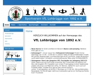 Bild Webseite Verein für Leibesübungen Lohbrügge von 1892 Hamburg