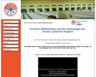 Bild Webseite Verein Lübecker Kegler Lübeck