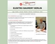 Bild Webseite Elektro-Baumert Berlin