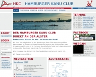 Bild Webseite Hamburger Kanu Club Hamburg