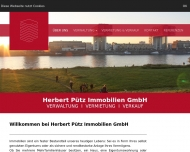 Website Herbert Pütz Immobilien