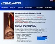 Bild Webseite HARD-WEAR SCHWEISSTECHNIK Düsseldorf