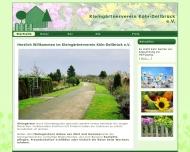 Bild Webseite Kleingärtnerverein Köln-Dellbrück Köln