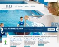 Bild Webseite mas Institut für ganzheitliches Training Köln