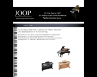 Website Pianohaus Joop Inhaber Eberhard Joop