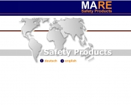 Bild Webseite MARE Safety Products Hamburg