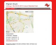 Bild Webseite PILGRAM DRUCK UND DIENSTLEISTUNG Verwaltungsgesellschaft Rösrath