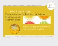 Bild Webseite Pro Publishing Werbeagentur München