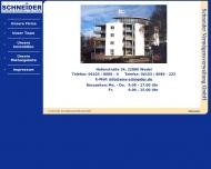 Bild Webseite Schneider Real Estate Wedel