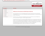 Bild Webseite RA-MICRO Apel & Witte Magdeburg