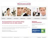Bild Webseite Worksource Personaldienstleistungen Hamburg