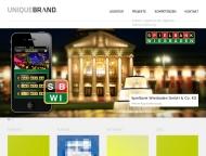 Bild Webseite UNIQUEBRAND Wiesbaden