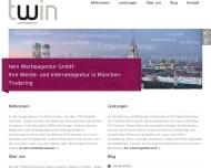 Bild Webseite TWIN - Gesellschaft für Technologie, Werbung und Innovation München