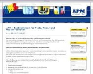 Bild Webseite APM Wuppertal