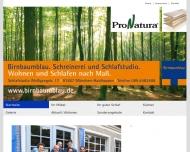 Bild Webseite Birnbaumblau Schreinerei München
