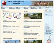 Bild Webseite  Köthen