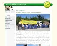 Website Kies- und Schotterwerk Kreuzfeld