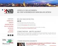 Bild Webseite NIB NÜRNBERGER IMMOBILIEN-BÖRSENDIENST Nürnberg