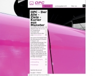 Bild Webseite OPC Overnight Parcel Courier Münster Münster