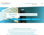 Bild Webseite Ritterwald Unternehmensberatung Berlin