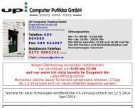 Bild Webseite UP Computer Putikka München