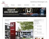 Bild Webseite Autohaus Drössiger Bochum
