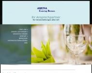 Bild Webseite Arena Catering Berlin