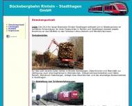 Bild Webseite Bückebergbahn Rinteln-Stadthagen Obernkirchen
