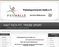 Bild Webseite Polizeisportverein Halle Halle