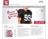 Bild Webseite Saferetoure Verpackung Hamburg