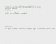 Bild Webseite Weber Verkaufskonzepte für Getränke Köln