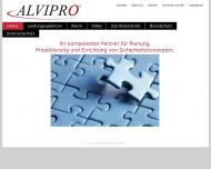 Bild Webseite ALVIPRO Hamburg