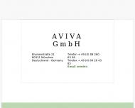 Bild Webseite AVIVA Einrichtung Vertriebs München
