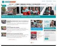 Bild Webseite GUARD Gesellschaft für unabhängige ambulante Rettungsdienstleistungen Hamburg