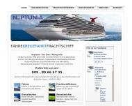 Bild Webseite Neptunia Schiffahrtsgesellschaft München