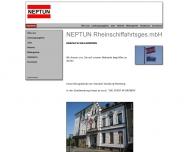 Bild Webseite Neptun Transport- und Handelsgesellschaft Duisburg