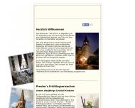 Bild Webseite Prester Gastro Magdeburg