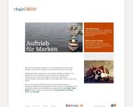 Bild Webseite Rheinfaktor, Agentur für Kommunikation Köln