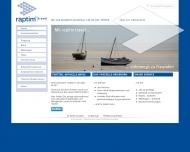Bild Webseite raptim Deutschland Beteiligungsgesellschaft Aachen